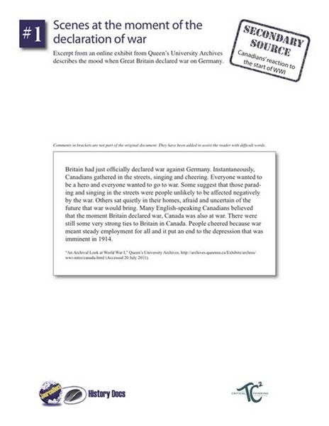 canada and world war 1 essay