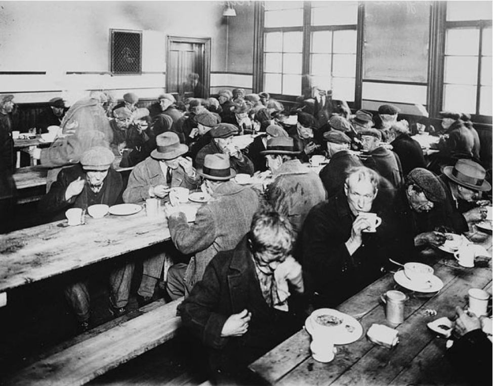 soup kitchens in the 1930s going