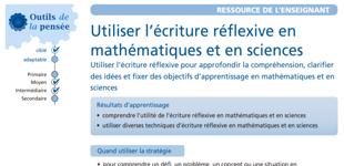 Utiliser l'écriture réflexive en mathématiques et en sciences
