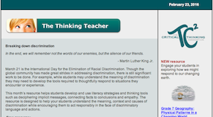 Sign up for The Thinking Teacher